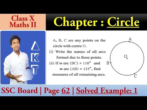Chapter : CIRCLE | Class X | SSC (Maharashtra) Board | Maths II | Page 62 | Solved Example1
