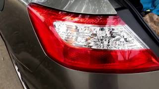 Third brake light bulb replacement on honda civic 2006 2007 2008 06 11 honda civic smoked tail lights how to remove rear bumper and tail fandeluxe Gallery