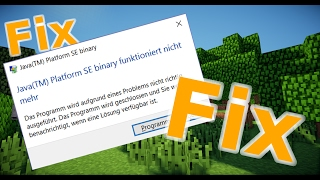 Minecraft Bug Fix JavaTM Platform SE Binary Funktioniert Nicht - Minecraft name andern funktioniert nicht