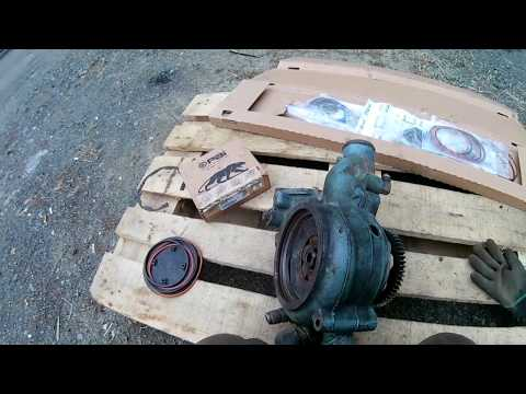 Ремонт помпы Detroit Diesel 14L, ремонт тормозов на прицепе