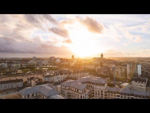Depuis les toits d'Angers, France - 4K T