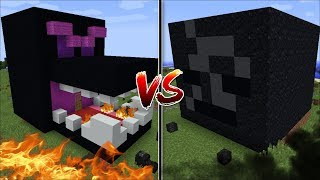 Minecraft ENDER DRAGON HOUSE VS WITHER SKELETON HOUSE MOD / BUILD BATTLE !! Minecraft