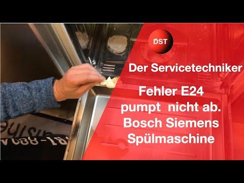 E24 Gerät pumpt nicht ab Bosch, Siemens, Neff, Constructa Spülmaschinen