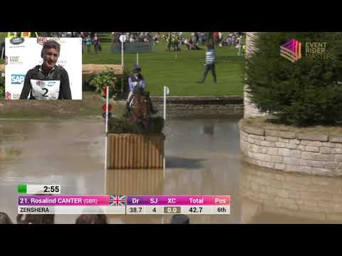 Ros Canter and Zenshera Cross Country at Leg 1 Chatsworth House 2017