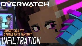 Overwatch Короткометражка «Покушение» в Minecraft НА РУССКОМ!!!