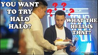 Steph Curry eating halo halo and shooting workout in Manila! #SC30Asiatour