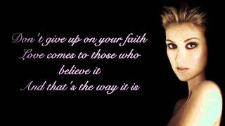 Céline Dion   That's The Way It Is Lyrics