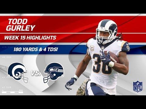 Todd Gurley Highlights | Rams vs. Seahawks | NFL Wk 15 Player Highlights