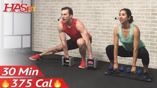 30 Minute Full Body Workout for Strength - Total Body Dumbbell Weight Training at Home for Women Men by HASfit