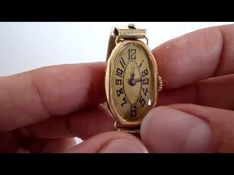 (A LA VENTA) Reloj Caja De Oro 18k Antiguo Para Dama