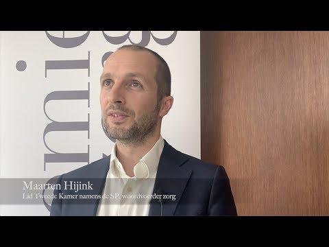 SP-kamerlid Maarten Hijink spreekt in Biddinghuizen over zorg en hulpmiddelen
