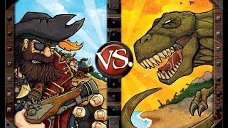 Pirates vs  Dinosaurs review - Board Game Brawl