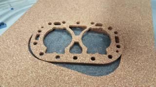 Kork schneiden mit einem oszillierenden Tangenzialmesser und einer CNC Fräsmaschine