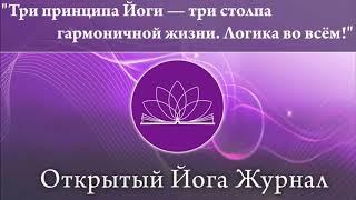 Три принципа Йоги-три столпа гармоничной жизни. Логика во всем!