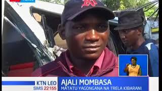 Matatu yagongana na trela Mombasa