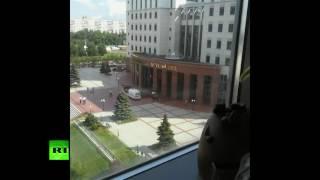 Видео эвакуации людей из здания Мособлсуда после перестрелки с «бандой ГТА»