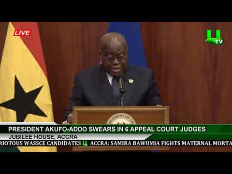 President Akufo-Addo Swears In 6 Appeal Court Judges
