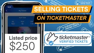 HOW TO LIST AND SELL TICKETS ON TICKETMASTER   THE COMPLETE GUIDE