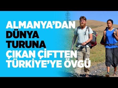 Almanya'dan dünya turuna çıkan çiftten Türkiye'ye övgü