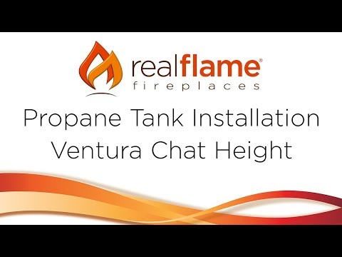 Real Flame - Installing Propane Tank on Ventura Chat Table