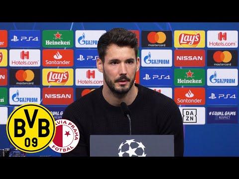 """""""Wollen unser Spiel unbedingt gewinnen!""""   PK mit Roman Bürki & Lucien Favre   BVB - Slavia Prag"""