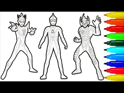 Ginga Ultraman Draw Ultraman Colorings Pages Me Xien Video