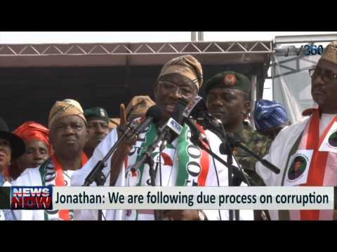 President Jonathan kicks off re-election campaign in Lagos