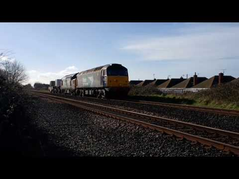 DRS 57007 & 37218 on Valley Flasks pass Prestatyn 8th March …