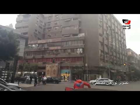 سيولة مرورية في وسط القاهرة مع سقوط الأمطار