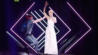 A stage invader crashes Great Britain's SuRie during her Eurovision 2018 final performance  Like us on Facebook: https://www.facebook.com/TheIndepende... Follow us on Twitter: https://twitter.com/Independent Follow us on Instagram: https://www.instagram.com/the.indepen... Check out The Independent's website: https://www.independent.co.uk/