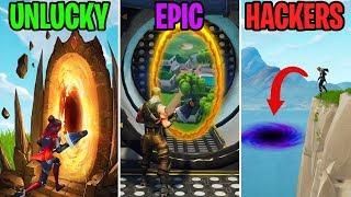NEW Secret Portals in Wailing Woods! UNLUCKY vs EPIC vs HACKERS - Fortnite Funny Moments