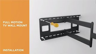 How to Install Full-Motion TV Wall Mount - LPA49-483XLD