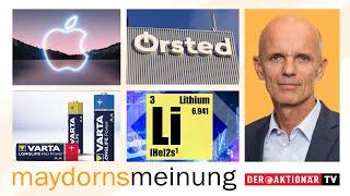 Maydorns Meinung: Bitcoin, SAP, Apple, PVA TePla, Tesla, Varta, Lithium, SolarEdge, Encavis, Ørsted