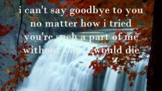 Gambar cover I can't say goodbye to you by Helen Reddy with Lyrics