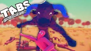 TABS MINOTAUR!  Totally Accurate Battle Simulator New BEAST Minotaur vs Hoplites  (TABS Gameplay)