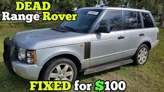 I Fixed a DEAD $1,400 Auction Range Rover for $100 in Parts! It Runs AMAZING!