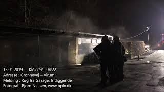 13 Januar 2019 – Ild i garage – Virum