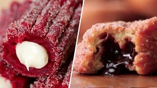 Red Velvet Churros VS Chocolate Stuffed Churro Donuts- Buzzfeed Test #71