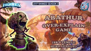 Grubby | Heroes of the Storm - Abathur - Over-Explain Game - HL 2017 S3 - Sky Temple