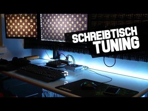 LED Beleuchtung am Schreibtisch installieren - Feintuning für den eigenen Arbeitsplatz