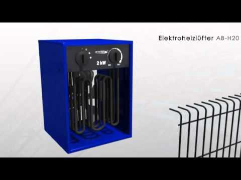 Elektroheizlüfter Heizlüfter Heizgerät AB-H20 2 KW - ALLEGRA Berlin