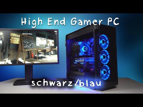 Game Computer mit blauen Lüftern