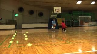 バスケ 小学生のドリブル練習