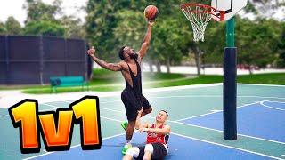 1v1 Basketball Against Kenny! Tough & Physical!