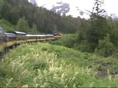Anchorage to Seward Alaska Railroad Train Ride