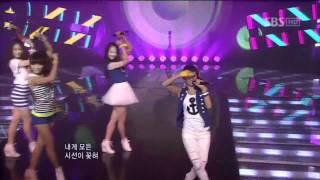 Sistar - Push Push (시스타 - Push Push) @ SBS Inkigayo 인기가요 100725