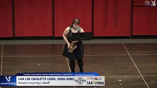 Chin Lok CHARLOTTE LEUNG play Sanata by J. Rueff #adolphesax