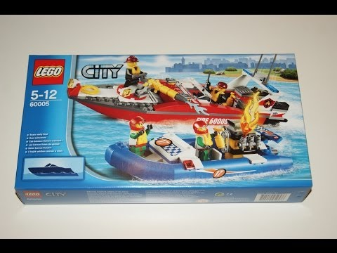 Vidéo LEGO City 60005 : Le bateau des pompiers