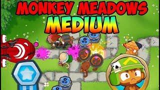Bloons TD 6 - Monkey Meadows Medium Walkthrough