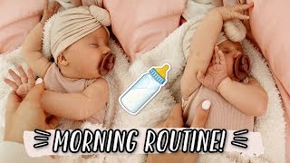 OUR MORNING ROUTINE WITH A NEWBORN!